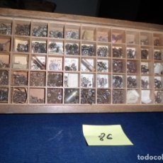 Recambios de relojes: CAJA CON FORNITURA DE RELOJERIA LOTE 86. Lote 223395817