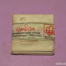 Recambios de relojes: ANTIGUA PAQUETE CON 12 SOBRES DE CRISTALES DE RELOJ OMEGA OLIMPIADAS DE MONTRÉAL E INNSBRUCK DE 1976. Lote 225567213