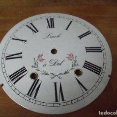 Recambios de relojes: ANTIGUA ESFERA EN PORCELANA PARA RELOJ MOREZ DE PESAS- LOTE 320. Lote 225719025
