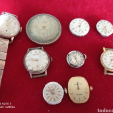 Recambios de relojes: MAQUINARIA RELOJ MILUS LONGINES EXACTUS DUWARD CIMA LOTE DE 9. Lote 227489120