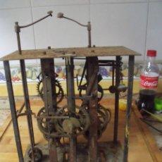 Recambios de relojes: ANTIGUA MAQUINARIA MOREZ DE PESAS-DOBLE SONERIA-FUNCION DESPERTADOR- AÑO 1870-LOTE 324. Lote 227829798