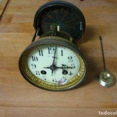Recambios de relojes: ANTIGUA MAQUINARIA PARIS PARA RELOJ SOBREMESA-AÑO 1870- LOTE 327- FUNCIONA. Lote 228929675