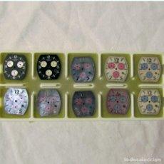 Recambios de relojes: 10 ESFERAS DE RELOJ CHARRIO GENEVE, SIN ESTRENAR. Lote 229604950