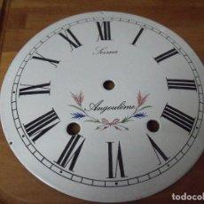 Recambios de relojes: ANTIGUA ESFERA EN PORCELANA PARA RELOJ MOREZ DE PESAS- LOTE 320. Lote 234622880