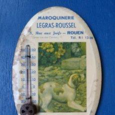 Recambios de relojes: ANTIGUO TERMOMETRO PUBLICITARIO DE GLAUCOL AÑO 1950-60 LOTE 346. Lote 235080640