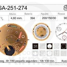 Recambios de relojes: MOVIMIENTO ETA 251-274 NUEVO, NEW. Lote 235310050