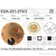 Recambios de relojes: MOVIMIENTO ETA-251-274/3, CALENDARIO A LAS 3. Lote 235317955