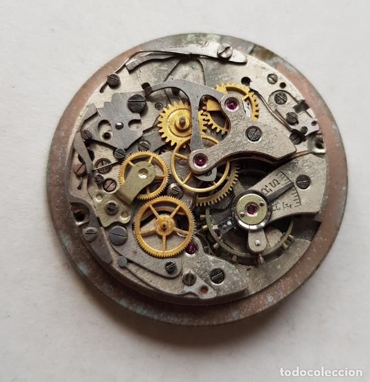 Recambios de relojes: CHRONOGRAPHE SUISSE CRONOGRAFO MECANICO CALIBRE + ESFERA 34MM + AGUJAS - Foto 2 - 235719090