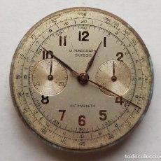 Recambios de relojes: CHRONOGRAPHE SUISSE CRONOGRAFO MECANICO CALIBRE + ESFERA 34MM + AGUJAS. Lote 235719090