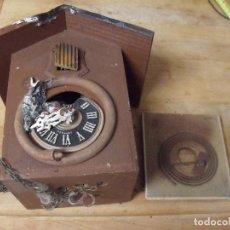 Recambios de relojes: ANTIGUO CUCO DE MADERA SELVA NEGRA DE ALEMANIA- LOTE 349. Lote 236237880