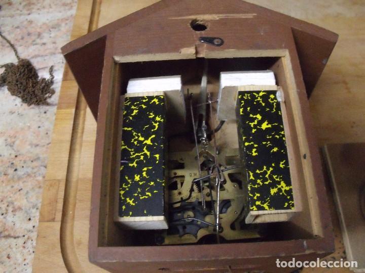 Recambios de relojes: antiguo cuco de madera SELVA NEGRA DE ALEMANIA- lote 349 - Foto 4 - 236237880