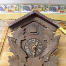 Recambios de relojes: ANTIGUO CUCO DE MADERA SELVA NEGRA DE ALEMANIA- LOTE 349. Lote 236238975