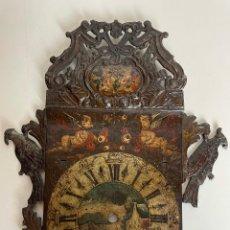 Recambios de relojes: FRONTAL DE RELOJ DE PARED SIGLO XVIII.. Lote 237538310
