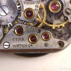 Recambios de relojes: MAQUINARIA DE RELOJ CYMA ,CYMAFLEX 454R OJO NO K FUNCIONA PERFECTO FALTA CORONA. Lote 238123635