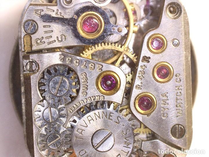 Recambios de relojes: MAQUINARIA DE RELOJ CYMA ,CYMAFLEX 454R OJO NO K FUNCIONA PERFECTO FALTA CORONA - Foto 3 - 238123635