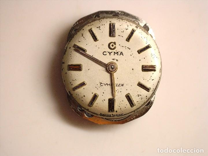 Recambios de relojes: MAQUINARIA DE RELOJ CYMA ,CYMAFLEX 454R OJO NO K FUNCIONA PERFECTO FALTA CORONA - Foto 4 - 238123635