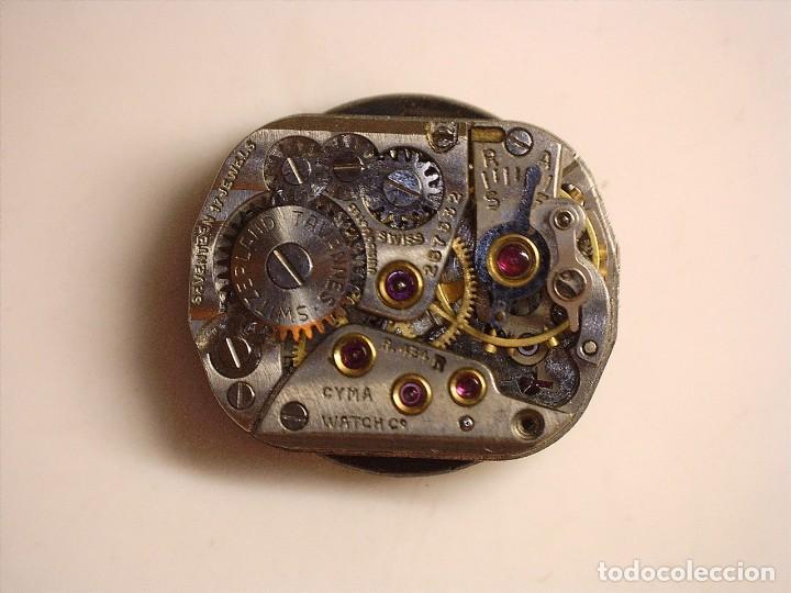 Recambios de relojes: MAQUINARIA DE RELOJ CYMA ,CYMAFLEX 454R OJO NO K FUNCIONA PERFECTO FALTA CORONA - Foto 5 - 238123635
