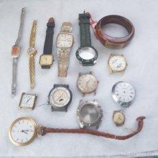 Recambios de relojes: BUEN LOTE DE RELOJES Y PIEZAS MECANICOS Y CUARZO BOLSILLO Y PULSERA C4. Lote 239399005