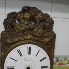 Peças de reposição de relógios: ANTIGUO FRONTAL EN LATON CON ESFERA PARA RELOJ MOREZ DE PESAS AÑO 1860-LOTE 354. Lote 240691910