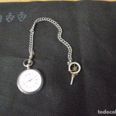 Recambios de relojes: ANTIGUO RELOJ BOLSILLO EN PLATA CON LEONTINA-AÑO 1880-LOTE 259-9-FUNCIONA. Lote 242336670