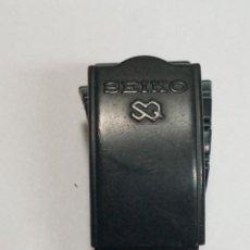 Recambios de relojes: SEIKO - ARMIS ORIGEN COLOR NEGRO - 18 M/M - 3 FOTOS. Lote 242342430