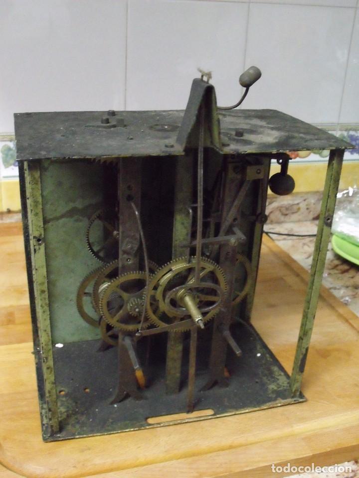 Recambios de relojes: antiquisima maquinaria morez-escape rueda catalina- funcion despertador-año 1860- lote 354 - Foto 2 - 243588185
