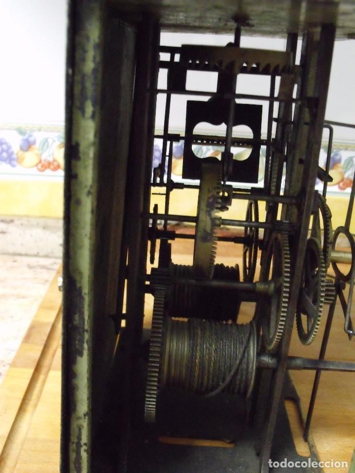 Recambios de relojes: antiquisima maquinaria morez-escape rueda catalina- funcion despertador-año 1860- lote 354 - Foto 3 - 243588185