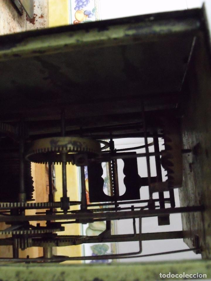 Recambios de relojes: antiquisima maquinaria morez-escape rueda catalina- funcion despertador-año 1860- lote 354 - Foto 4 - 243588185