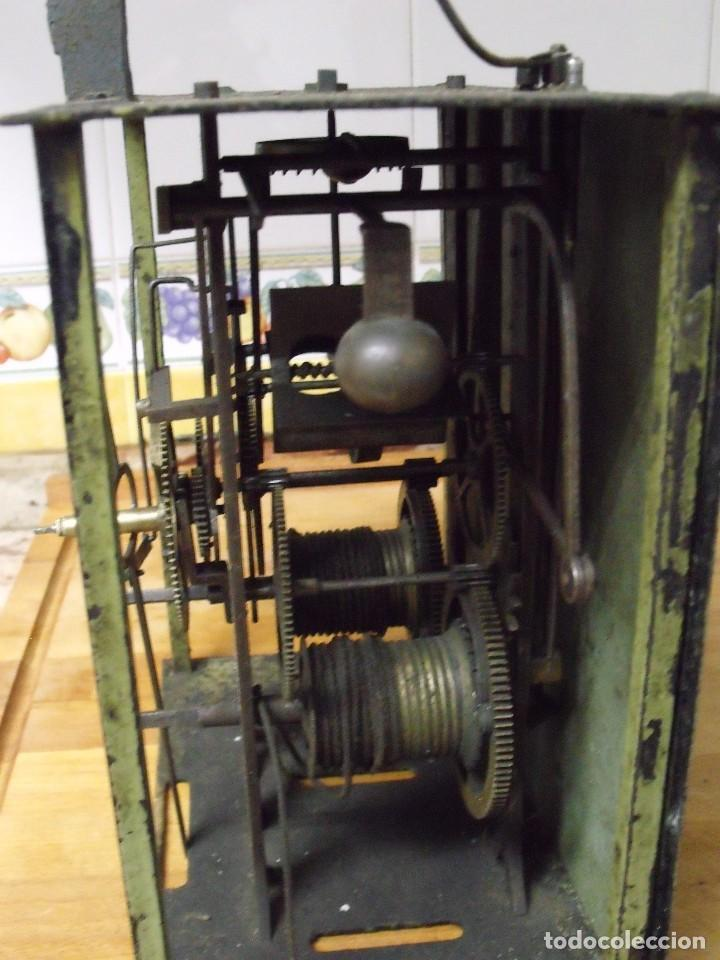 Recambios de relojes: antiquisima maquinaria morez-escape rueda catalina- funcion despertador-año 1860- lote 354 - Foto 6 - 243588185