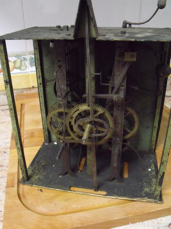 Recambios de relojes: antiquisima maquinaria morez-escape rueda catalina- funcion despertador-año 1860- lote 354 - Foto 8 - 243588185