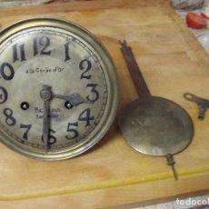 Recambios de relojes: ANTIGUA MAQUINARIA TIPO JUNGHANS-PARA RELOJ PARED-AÑO 1910-20-LOTE 362. Lote 243900475
