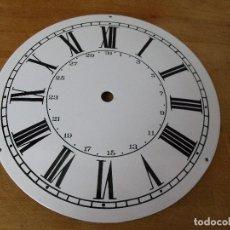 Recambios de relojes: ANTIGUA ESFERA EN PORCELANA PARA RELOJ MOREZ DE PESAS- CON CALENDARIO- A ESTRENAR-LOTE 364. Lote 244179295