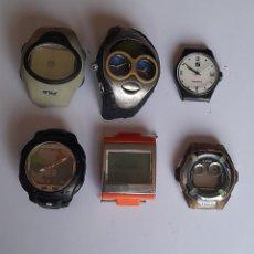 Recambios de relojes: 6 RELOJES DIGITALES PARA PIEZAS VER FOTOS.. Lote 245057865