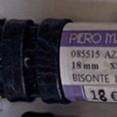 Pièces de rechange de montres et horloges: CORREA DE PIEL PIERO MAGLI AZUL OSCURO 18MM NUEVA. Lote 249309030