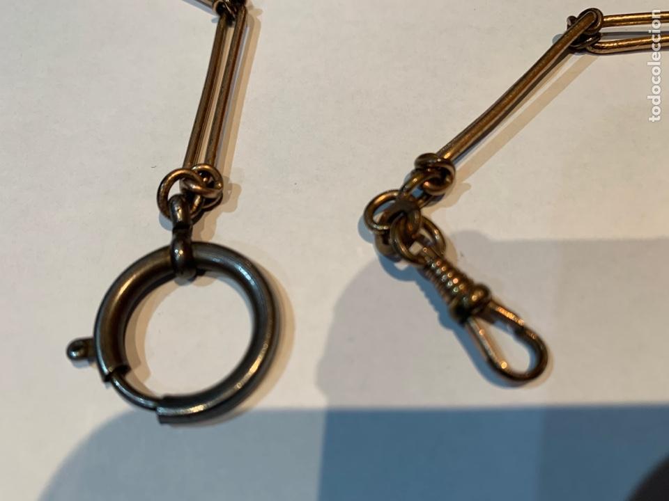 Recambios de relojes: Leontina o Cadena de Reloj de bolsillo , metal dorado de 38 cm . - Foto 2 - 253555560