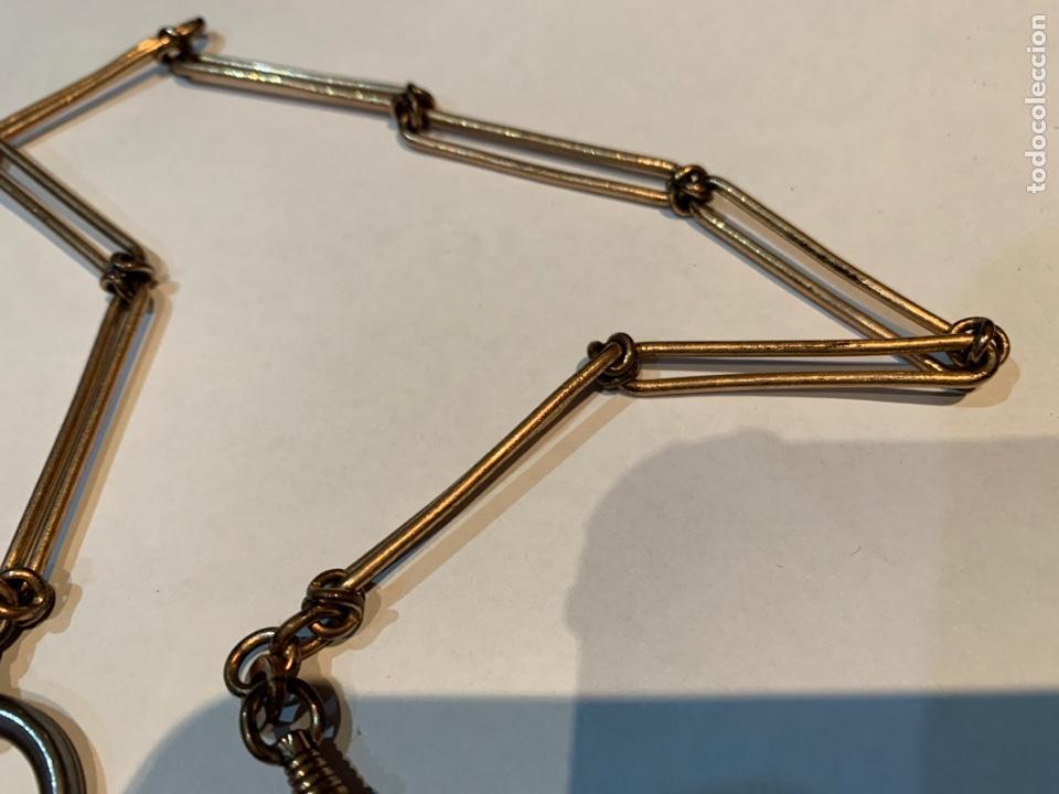 Recambios de relojes: Leontina o Cadena de Reloj de bolsillo , metal dorado de 38 cm . - Foto 4 - 253555560