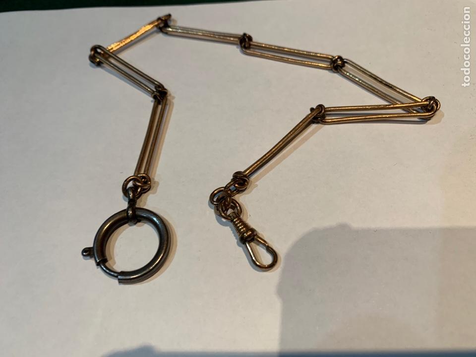 Recambios de relojes: Leontina o Cadena de Reloj de bolsillo , metal dorado de 38 cm . - Foto 5 - 253555560