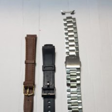 Recambios de relojes: CORREAS RELOJ LOTE 3 UNA CABALLERO CASIO STAINLESS STEEL. Lote 253879825