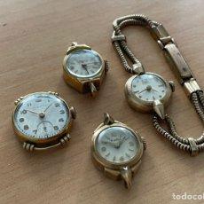 Recambios de relojes: LOTE 4 RELOJES DE SEÑORA PARA RESTAURAR FORTIS PIERCE YASMA CORTIBERT. Lote 254367955