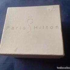 Recambios de relojes: ESTUCHE DE RELOJ PARIS HILTON, VACIO, DOBLE CAJA .. Lote 255305505