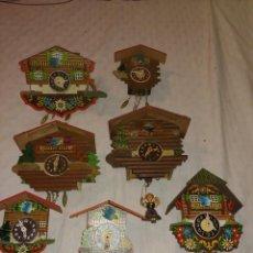Recambios de relojes: LOTE DE RELOJES DE CUCO SELVA NEGRA ALEMANIA PARA REPARAR O PIEZAS. Lote 255691885