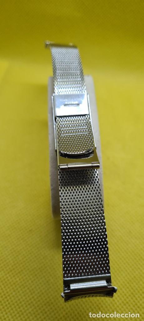 Recambios de relojes: Correa para reloj (Vintage) ORIENT de acero original tipo milanesa medida de las pata o asas 18mm. - Foto 3 - 255934400