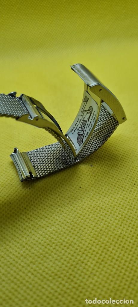 Recambios de relojes: Correa para reloj (Vintage) ORIENT de acero original tipo milanesa medida de las pata o asas 18mm. - Foto 6 - 255934400