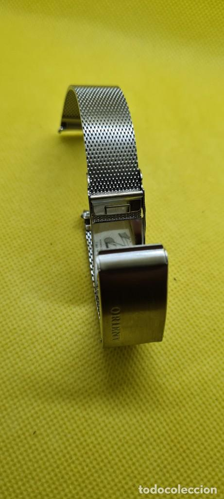Recambios de relojes: Correa para reloj (Vintage) ORIENT de acero original tipo milanesa medida de las pata o asas 18mm. - Foto 7 - 255934400
