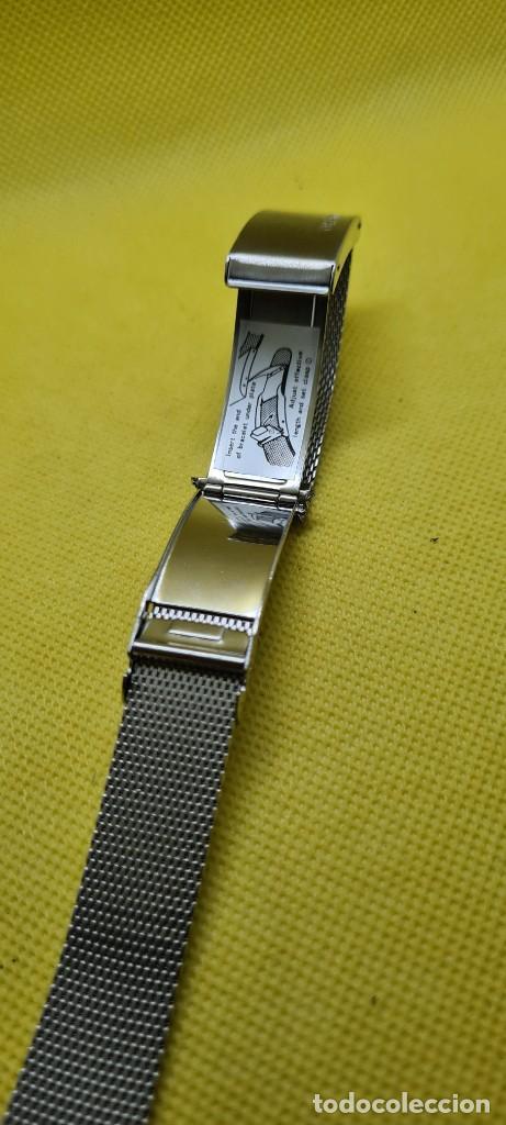 Recambios de relojes: Correa para reloj (Vintage) ORIENT de acero original tipo milanesa medida de las pata o asas 18mm. - Foto 8 - 255934400