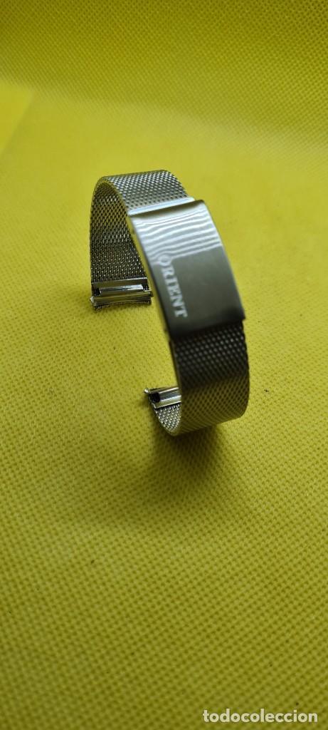Recambios de relojes: Correa para reloj (Vintage) ORIENT de acero original tipo milanesa medida de las pata o asas 18mm. - Foto 9 - 255934400