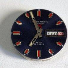 Recambios de relojes: CAUNY MATIC VINTAGE PARA REPARAR O PIEZAS, DIAL, MANILLAS Y MAQUINA, USADA 121. Lote 256108470