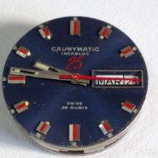 Recambios de relojes: CAUNY ALARMA VINTAGE PARA REPARAR O PIEZAS, DIAL, MANILLAS Y MAQUINA, USADA 114. Lote 256109730