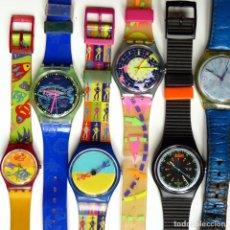 Peças de reposição de relógios: GRAN LOTE MATERIAL SWATCH DE LOS AÑOS 90'S - PARA PIEZAS O RECAMBIOS - RELOJES, CORREAS, CAJAS. Lote 257670555