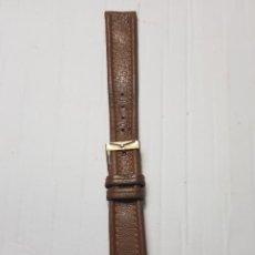 Recambios de relojes: CORREA CON HEBILLA CABALLERO RELOJ LONGINES PIEL. Lote 257882220